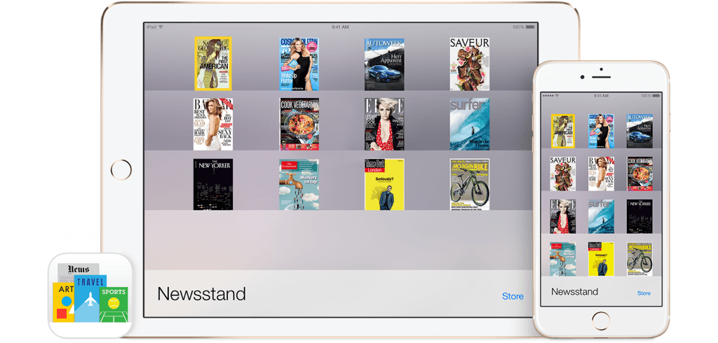 Apple Newsstand App iOS8